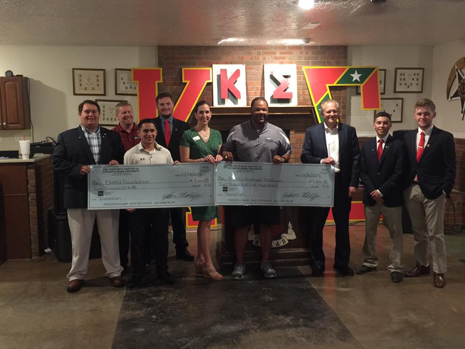 Theta-Zeta donates to ENMU after Cowdrop 2017